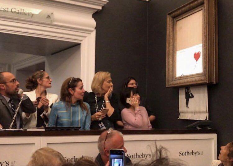 百万名画拍卖后竟自行销毁 被隐藏的碎纸机碎成条