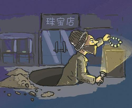 600万珠宝盗窃案嫌犯被批捕:8天打洞店内搜刮3小时