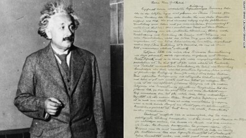 """爱因斯坦亲笔""""上帝之信""""将再次拍卖 预计成交价一百万美元"""