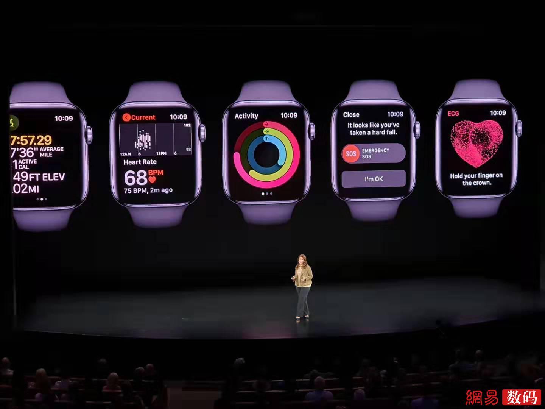 苹果Apple Watch 5发布:399美元起售 全新视网膜屏