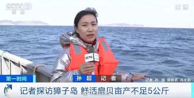 央视记者登上獐子岛捕捞船 到底多少扇贝还活着