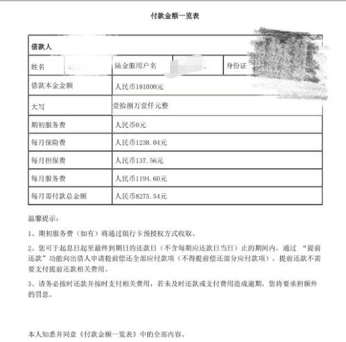 平安普惠每月还款8276元中竟有2500元是保险费服务费