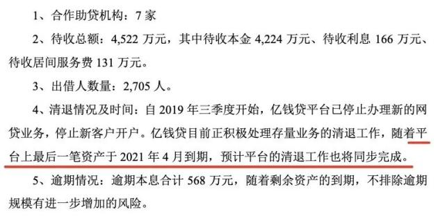 深南股份回函深交所称亿钱贷拟明年4月完成清退
